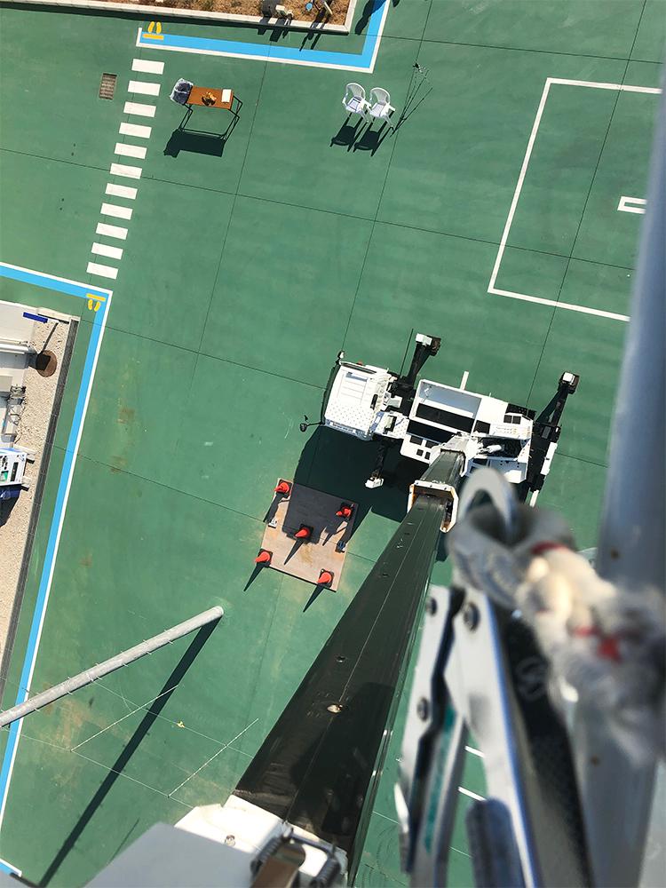 高所作業車からの風景